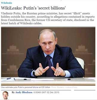 WikiLeaks: Putin's 'secret billions'