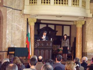 Президентът Росен Плевнелиев произнесе първата си публична лекция в Алма Матер.